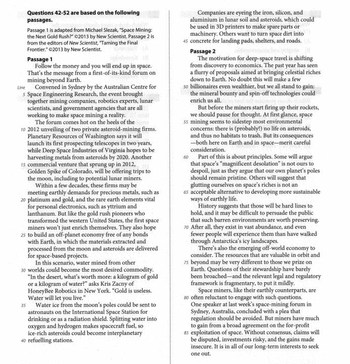 新SAT阅读中心论点题如何应对?OG例题解题心得分享图2