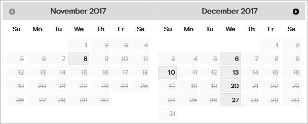 2017年11月12月GMAT西安外国语大学考场剩余考位一览图1