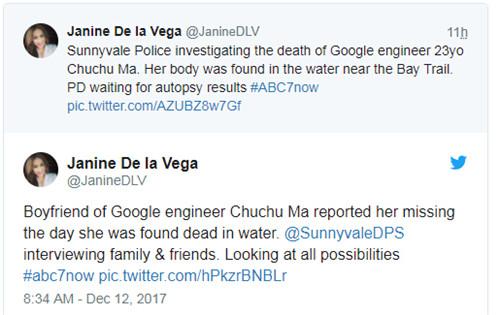 震惊!谷歌23岁华裔女工程师裸体浮尸旧金山海湾图7