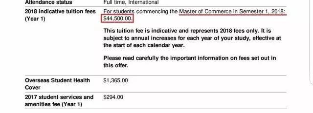 留学费用又涨了!澳大利亚2018年各大学学费正式公布图1