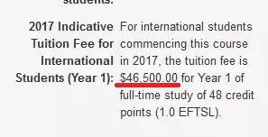 留学费用又涨了!澳大利亚2018年各大学学费正式公布图4