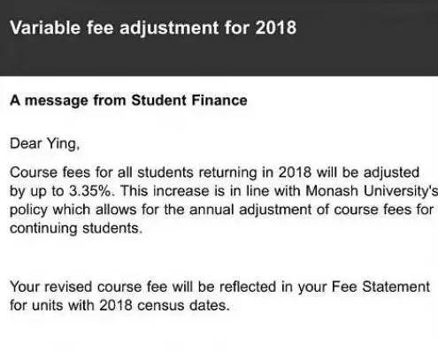 留学费用又涨了!澳大利亚2018年各大学学费正式公布图14