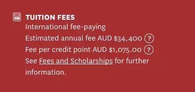 留学费用又涨了!澳大利亚2018年各大学学费正式公布图16