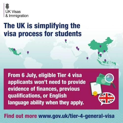 英国留学签证新变化 申请材料将简化图1
